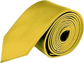 MDR Mens Ties Solid Satin Tie Pure Solid Color Necktie