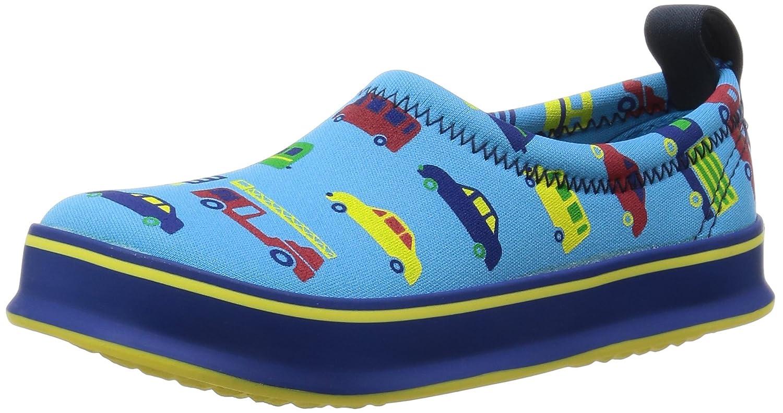 [スキッポン] 子ども 靴 クルマ(水色) SKP-0047-14 (ソール 青) 14cm