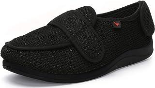 JIONS Women Men Adjustable Velco Extra Wide Shoes Swollen Feet Diabetic Edema Boots Slippers, Unisex Indoor Outdoor Sandal...
