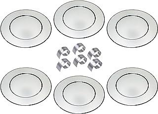CHG underplate set, Stainless Steel, Silver, 6 Stück mit Prakt.