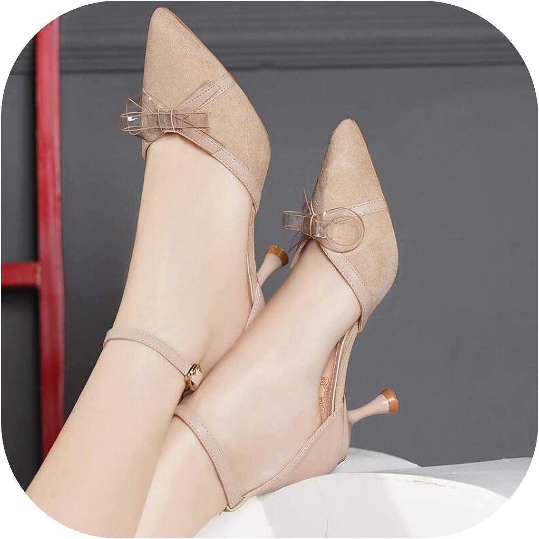 Shine-shine Pointed Toe Women Sandals Butterfly-Knot Heel Back Rap Sandals f068