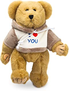Bear of Allan Teddy Bear Stuffed Animal - Jointed Bear, I Love You Gift for Her, Embroidered Hoodie, Moveable Arms and Leg...