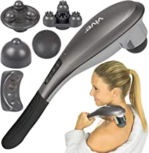 Vive Handheld Massager - Hand Held Massage Tool - For Lower Back, Full Body, Foot and Neck Muscle - 5 Mode Deep Tissue for...