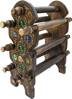 Ereteken ART Handmade Wooden Carving Bangle Holder Jewellery Stand for Women