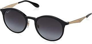 Women's RB4277 Emma Round Sunglasses, Black/Polarized Grey Gradient, 51 mm