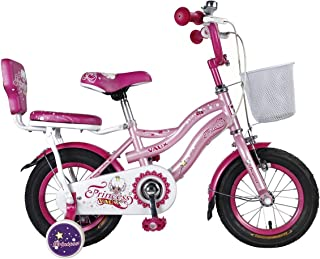 """Vaux Bicycle for Kids- Vaux Princess 12T Kids Bicycle for Girls. Ideal for Cyclist with Height (2'8"""" – 3'3"""") – Pink."""
