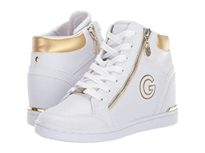 G by GUESS Dillin (White/Oro) Women