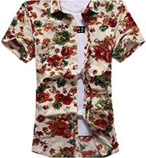 Short Sleeve Fashion Casual Floral Shirts Social