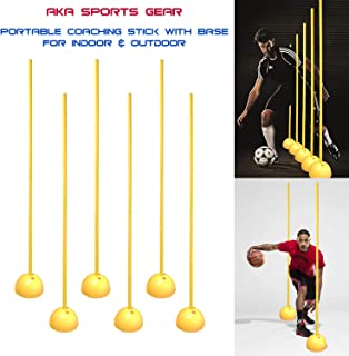 AKA Sports Gear Portable Coaching Stick with Base for Indoor & Outdoor
