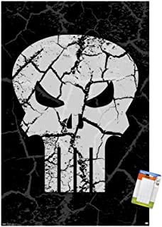 "Trends International Marvel Comics - The Punisher - Logo Wall Poster, 22.375"" x 34"", Premium Poster & Mount Bundle"