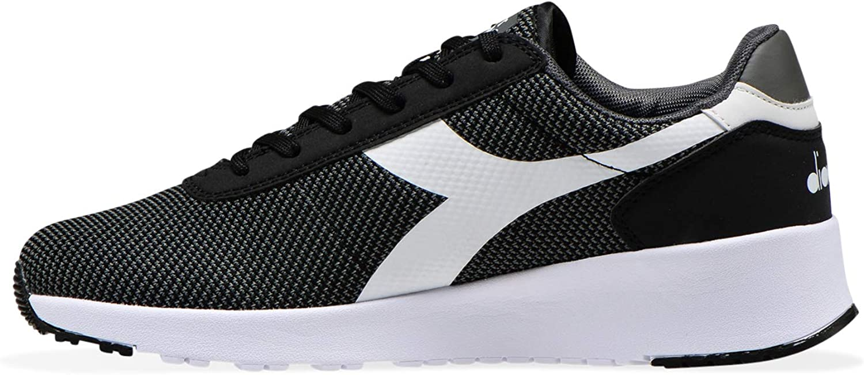 Diadora - Sneakers EVO Run DD for Man and Woman Black Charcoal Gray White