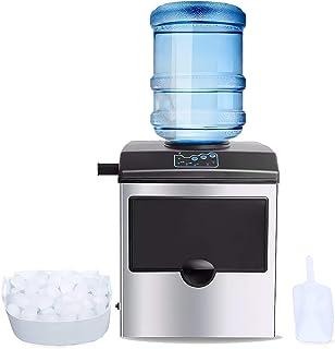 Machine à glaçons commerciale, machine à glaçons automatique de comptoir, machine à glaçons portable, 25 kg / 24 h, 12 gla...