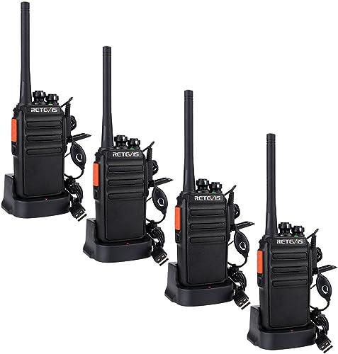 Retevis RT24 Plus Talkie Walkie Professionnel PMR446 sans Licence 16 Canaux CTCSS/DCS Talkie Walkie Rechargeable avec...