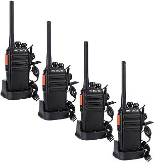 Retevis RT24 Walkie Talkie Recargable PMR446 sin Licencia 16 Canales CTCSS DCS Walkies Profesionales con Cargador USB y Au...