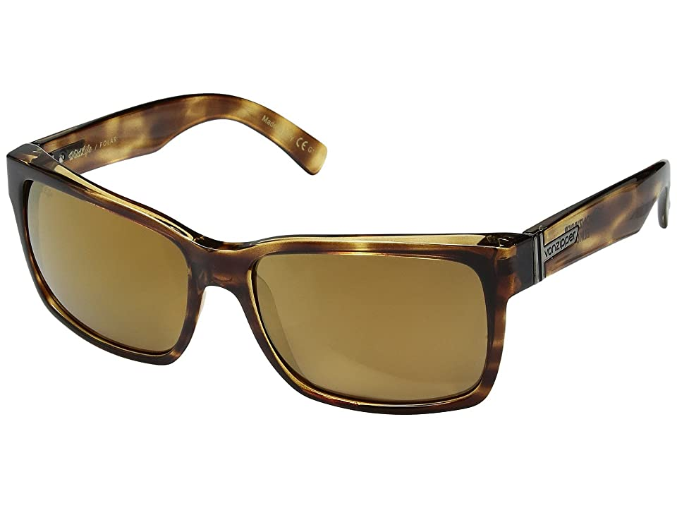 VonZipper Elmore Polarized (Tortoise/Brown Wildlife Polar) Fashion Sunglasses