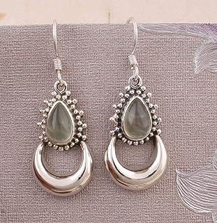 Aretes de piedras preciosas naturales de plata esterlina 925 de regalo para el Día de la Madre