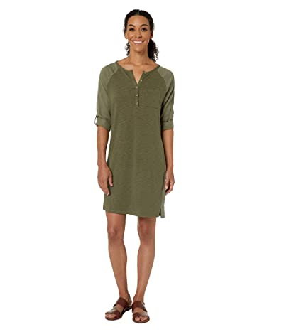 Prana Hensley Henley Dress (Rye Green) Women