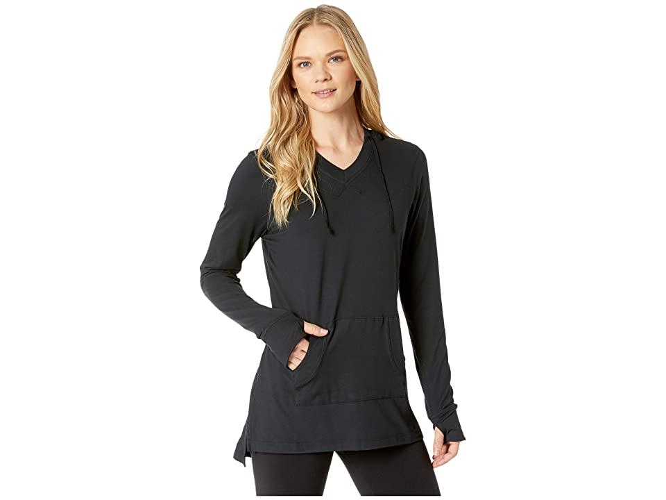 Aventura Clothing Zahara Solid Hoodie (Black) Women's Sweatshirt