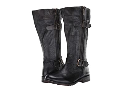 Bed Stu Gogo Lug Wide Calf (Black Rustic) Women