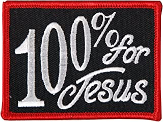Hot Leathers 100% For Jesus Patch (3