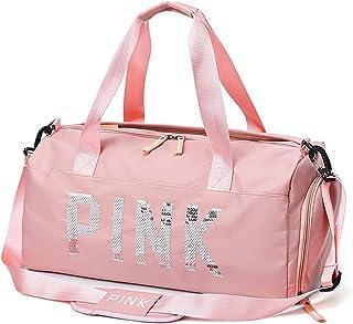 Women Men Pink Couples Gym Bag Sports Tote Travel Duffel Bag