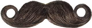 amscan Brown Mini Handlebar Moustache Costume Accessory