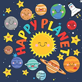 Happy Planet: My First Cute Book of Space with 8 Little Planets   Gift for Mother and Baby   Baby Books 0-6 6-12 Months