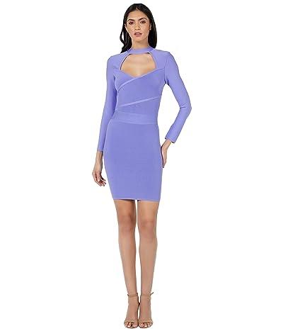 Bebe Long Sleeve Surplice Front Bandage Dress
