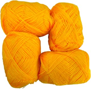 unique retail 3 PLY Knitting Wool Yarn_Pack 4_Yellow haldi Color