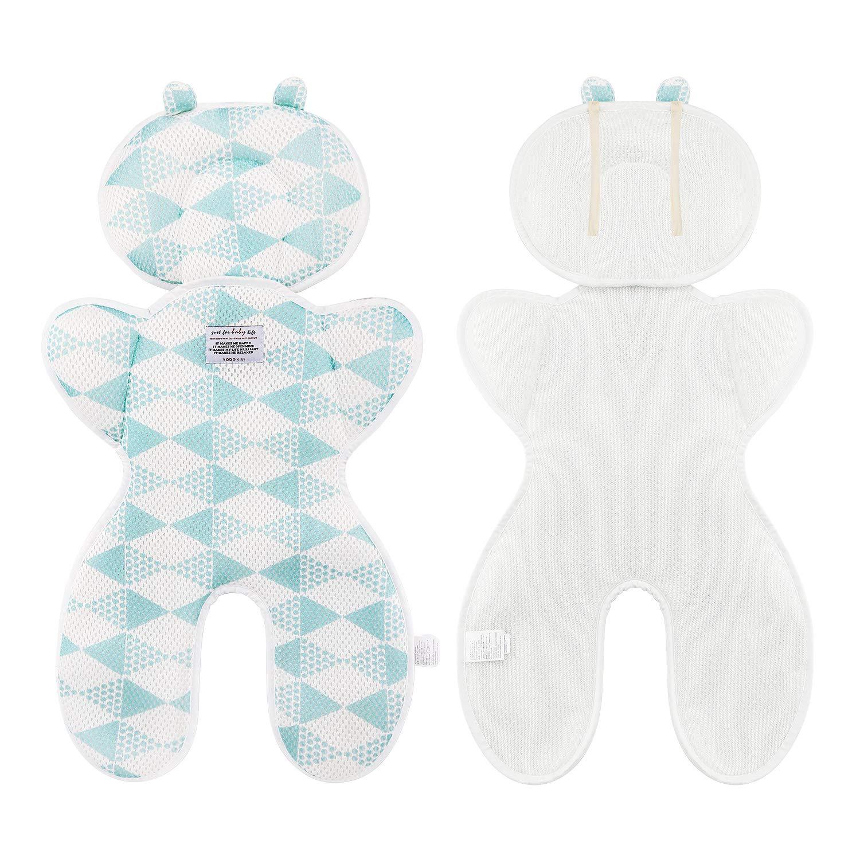 Sitzauflage Kinderwagen Sommer Atmungsaktive Sitzeinlage Für Buggy Schützt Den Sitzbezug Vor Flecken Blau Baby