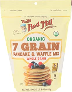 Bobs Red Mill Organic 7 Grain Pancake and Waffle Mix, 24 Ounce