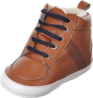 Luvable Friends Unisex Baby Crib Shoes, Chestnut, 0-6 Months