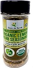 Organic Low FODMAP Certified Paleo AIP Seasoning (Lemon Herb)|No Onion No Garlic, Gluten Free, Low Salt, No Carb, Keto, Paleo, Whole30, Kosher, All Natural, Non GMO, Non Irradiated-Casa de Sante