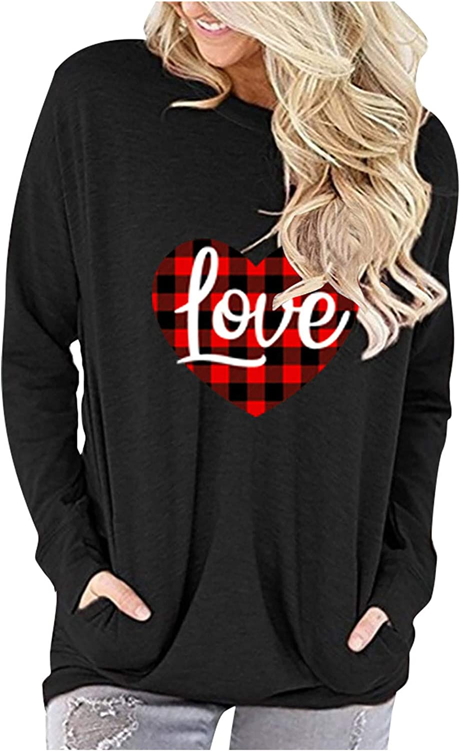 COOKI Tunic Tops for Women Valentine's Love Shi Print Ranking TOP1 Day Pocket Ranking TOP14