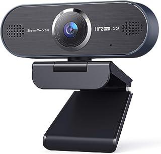 UNZANO 1080P 60FPS HD Webcam with Dual Noise Reduction Microphone, Auto Focus USB Streaming Computer Camera for Desktop/La...