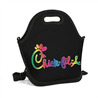 uter ewjrt Durable Polyester Chick-fil-A-Logo- Casual Lunch Box Toto Mom Bag for School Work Outside Picnic