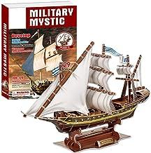 Dilwe 3D Rompecabezas de Juguete, Barco Pirata Misterioso Modelo Ensamblado 3D Puzzle Juguete de la Nave para Niños, 129pcs