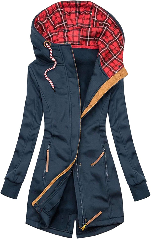 Pianshanzi Chaqueta de forro polar para mujer, funcional 3 en 1, impermeable, transpirable, larga, para correr, para exteriores, ligera, cortavientos, con capucha, chaleco largo acolchado