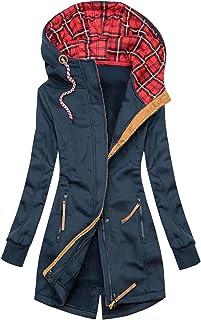 Felpa da Donna Fashion Floral Print Jacket Zipper Pocket Cappotto Manica Lunga