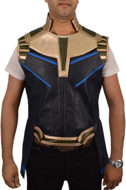 F&H Men's Genuine Leather Supervillain Vest