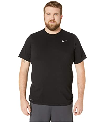 Nike Big Tall Dry Tee Dri-Fit Cotton Crew Solid (Black/White) Men