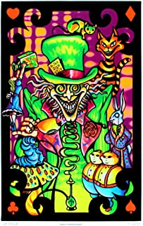 mad hatter blacklight poster