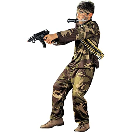 Children's Special Force 158cm Costume Large 11-13 yrs (158cm) for Military Army War Fancy Dress