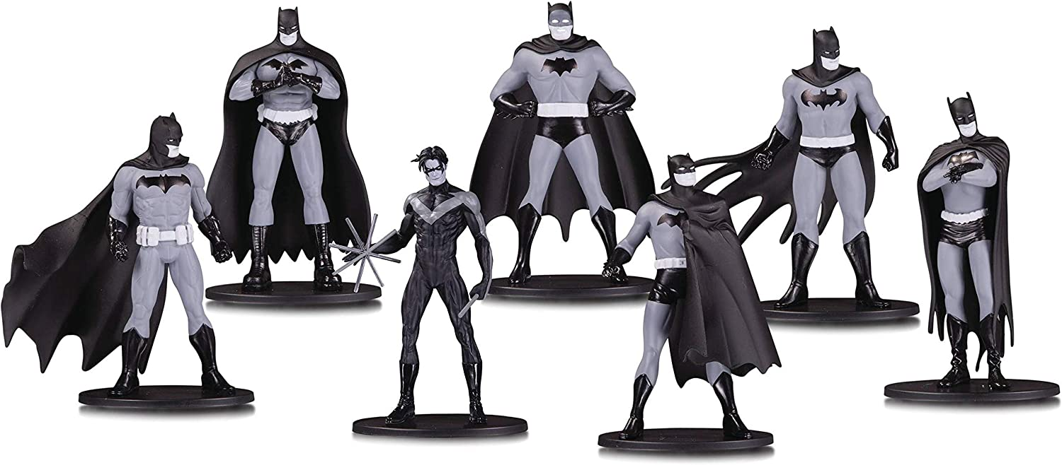 2 /& 3 Mini Figures Details about  /Lot of 3 DC Collectibles Batman Black And White Series 1