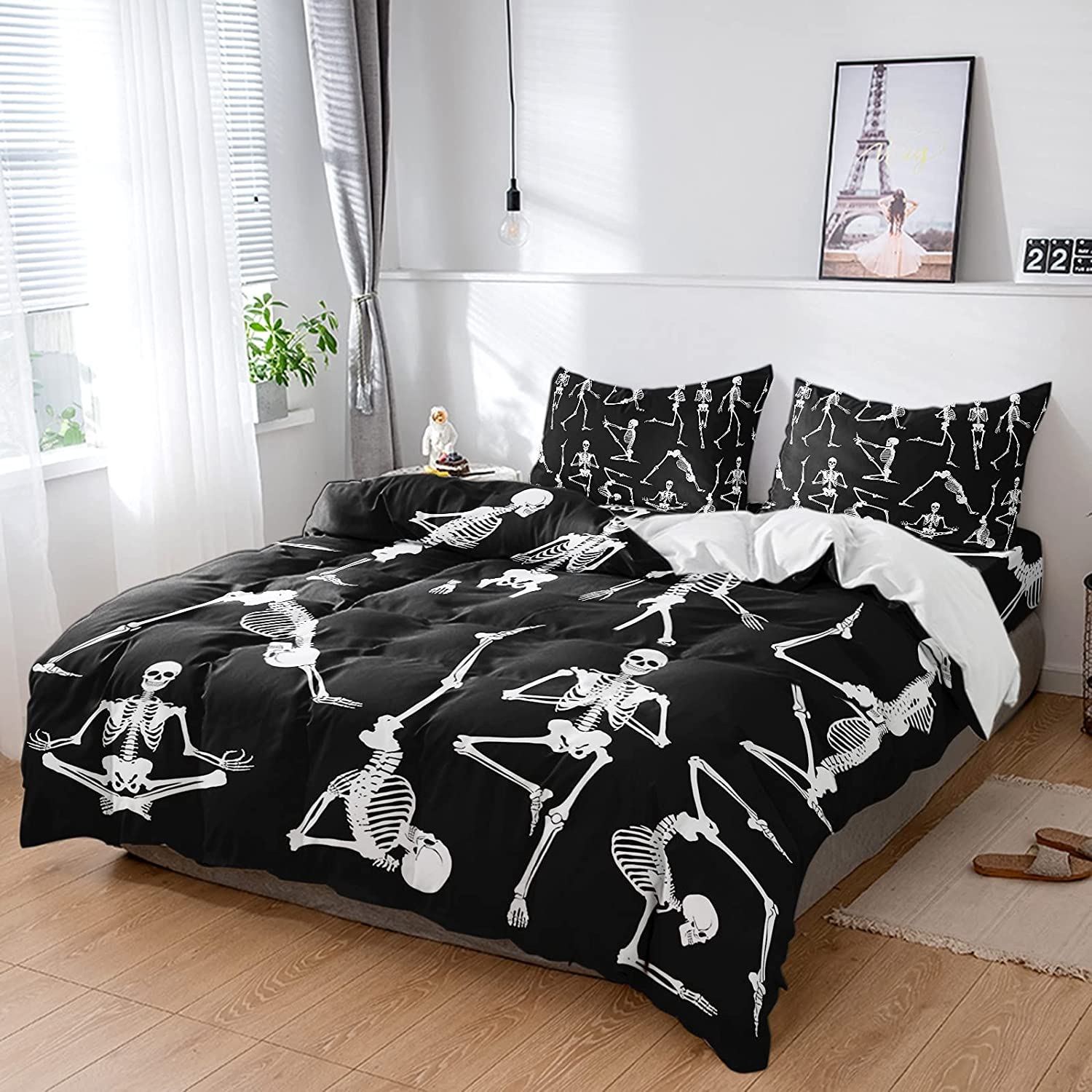 ZL Home Bedding Sets 4Pcs Soft Party Cover Duvet Halloween Funn Super sale Limited time for free shipping period limited