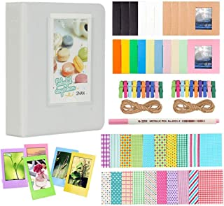 Anter Photo Album Accesorios para Fujifilm Instax Mini Camera HP Sprocket Polaroid Zip Snap Snap Touch Impresora Films con Film Stickers Album & Frame (64 Pocket Smokey White)