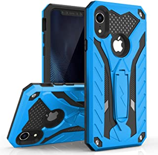 Zizo Static Series Compatible with iPhone XR Case Military Grade Drop Tested with Built in Kickstand (Blue/Black)