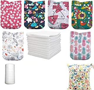Sponsored Ad - DoDo Bear Reusable Washable Adjustable One Size Baby Cloth Diapers (Color5)