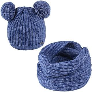 Toddler Winter Hat Pom Beanie Knit Skull Cap Hats for Children Baby Boys Girls Kids 1-6 Years