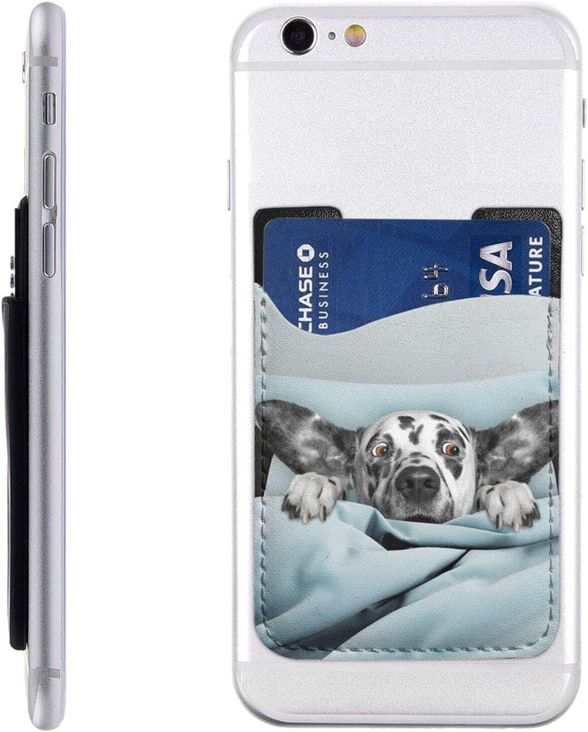 Dog Phone Card Holder Cell Mob Wallet Stick On Challenge the lowest price Manufacturer OFFicial shop of Japan ☆ Sleeve